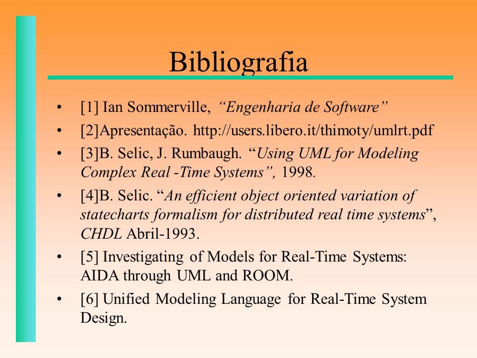 Bibliografia [1] Ian Sommerville, Engenharia de Software
